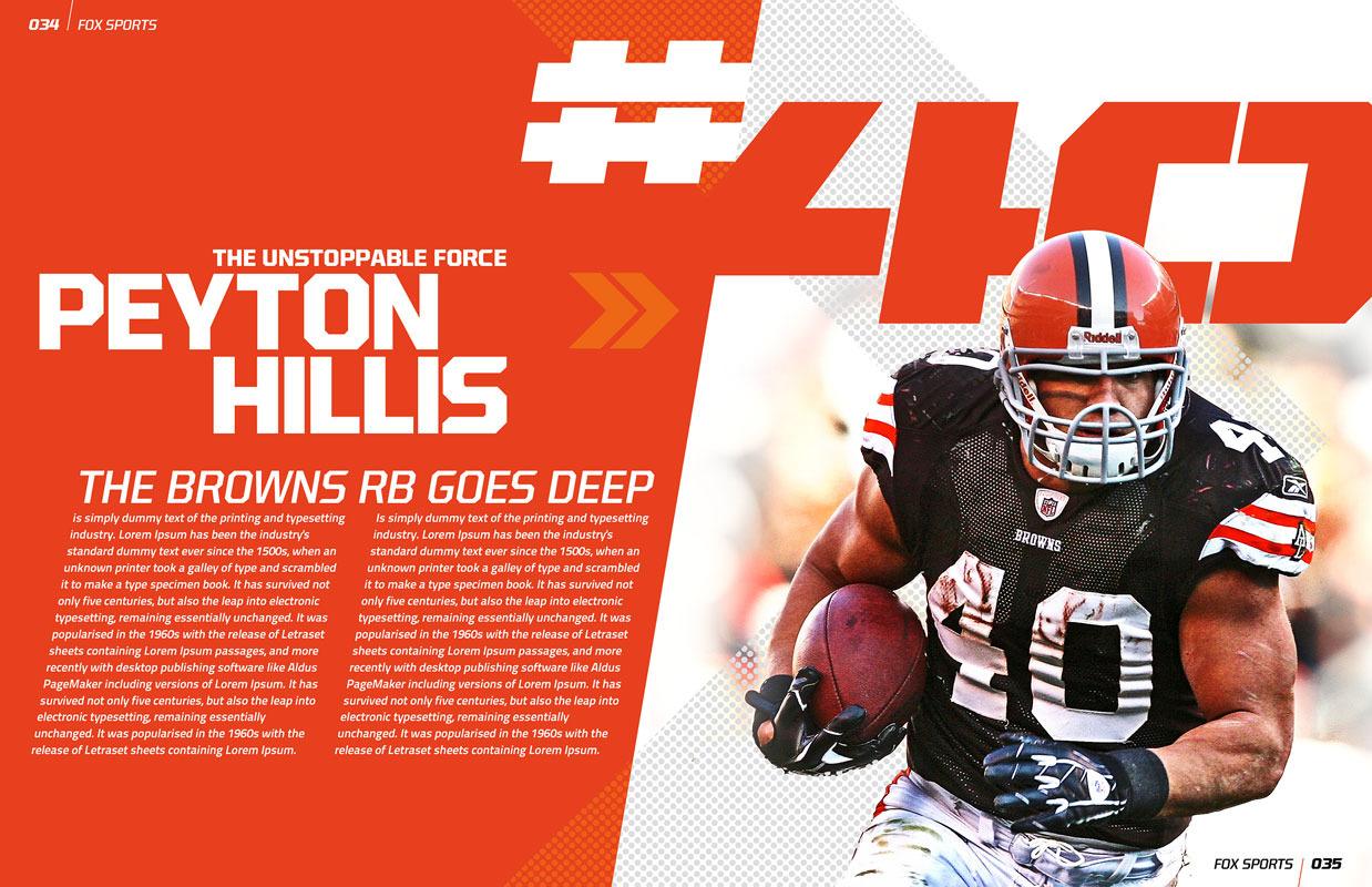 Magazine Spreads Fox sports magazine spread