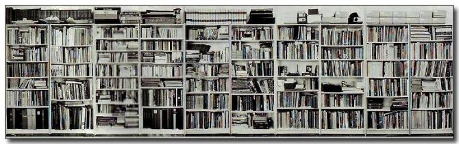 Hans peter feldman flatsurface contemporary art blog - Bibliotheque separation ikea ...